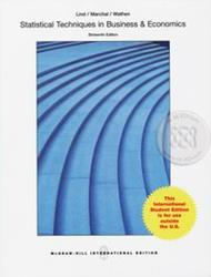 Statistical Techniques in Business and Economics 16ED (P)